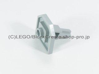 #47474 テクニック プレート 2x2 斜め軸  【新灰】 /Plate 2x2 with One Stud and Angled Axle :[Light Bluish Gray]