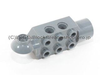 #47432 テクニック ブロック 2x3  ソケット 【新濃灰】 /Technic Brick 2x3 w/ Holes, Click Rot.:[Dark Bluish Gray]