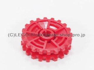 #32089 トレッド スプロケット ホイール20歯 【赤】 /Technic Tread Sprocket Wheel 20 Tooth Thin :[Red]