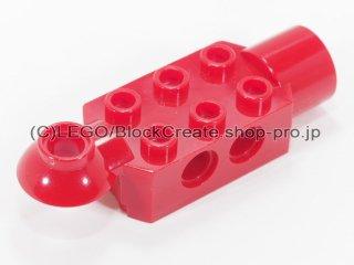 #47454 テクニック  ブロック 2x3 水平 ジョイント&ソケット【赤】 /Technic Brick 2x3 w/ Holes :[Red]