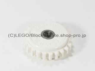 #76019 テクニック ギア 24歯 内部クラッチ 【白】 /Gear with 24 Teeth and Internal Clutch :[White]