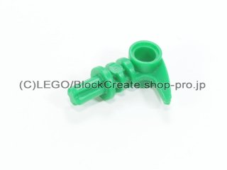 #42074 バイニクル 軸 ピンコネクター 2x3 歯付【緑】 /Technic Bionicle Hook Small with Axle and Hole :[Green]