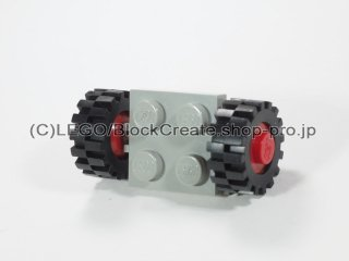 #122/3641 プレート 2x2 ホイール(タイヤ付)  【旧灰】 /Plate 2x2 with Wheels(Small Tire with Offset Tread) :【Gray】