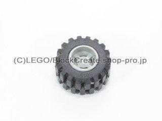#6014a/6015 ホイール 11x12 ラウンド (タイヤ付)  【旧灰】 /Wheel Rim Wide 11x12 with Round Hole :【Gray】