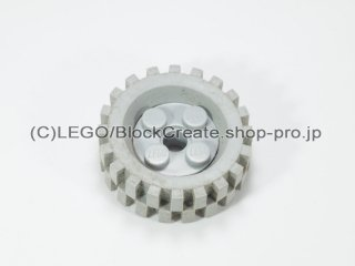 #6248/2346 ホイール 10x17.4 (タイヤ付)  【旧灰】 /Wheel Rim 10x17.4 with 4 Studs and Technic Peghole :【Gray】