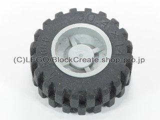 #30285/92402 ホイール ハブ 14.8x16.8 溝 (タイヤ付)  【旧灰】 /Wheel Hub 14.8x16.8 with Centre Groove :【Gray】