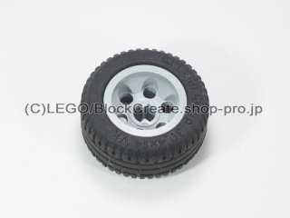 #2994/58090 ホイール 12mm x 20mm 6ペグ穴  【新灰】 /Wheel 12x20 with Technic Axle Hole and :【Light Bluish Gray】