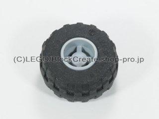 #6014b/56890 ホイール 11x12 ノッチ(タイヤ付) 【新灰】 /Wheel Rim Wide 11x12 with Notched Hole:【Light Bluish Gray】
