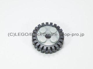 #6248/3483 ホイール 10x17.4 (タイヤ付)  【新灰】 /Wheel Rim 10x17.4 with 4 Studs and Technic:【Light Bluish Gray】