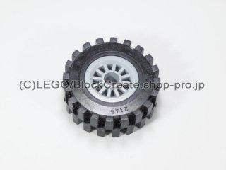 #30155/2346 ホイール センタースポーク小 (タイヤ付)  【新灰】 /Wheel Centre Spoked Small :【Light Bluish Gray】