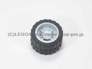 #30285/24341 ホイール ハブ 14.8x16.8 溝 (タイヤ付)  【新灰】 /Wheel Hub 14.8x16.8 with Centre:【Light Bluish Gray】