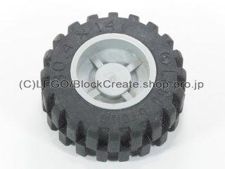 #30285/92402 ホイール ハブ 14.8x16.8 溝 (タイヤ付)  【新灰】 /Wheel Hub 14.8x16.8 with Centre:【Light Bluish Gray】