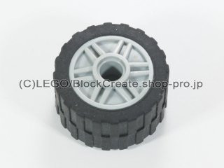 #55981/24341 ホイール 18x14 (タイヤ付) 【新灰】 /Wheel Rim 18x14 with Pin Hole :[Light Bluish Gray]
