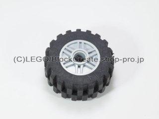 #55981/30391 ホイール 18x14 (タイヤ付) 【新灰】 /Wheel Rim 18x14 with Pin Hole :[Light Bluish Gray]
