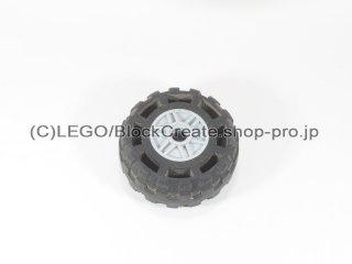 #55981/56891 ホイール 18x14 (タイヤ付) 【新灰】 /Wheel Rim 18x14 with Pin Hole :[Light Bluish Gray]
