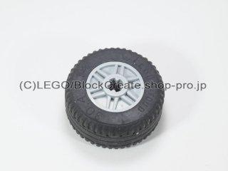 #55981/58090 ホイール 18x14 (タイヤ付) 【新灰】 /Wheel Rim 18x14 with Pin Hole :[Light Bluish Gray]