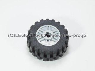 #55982/30391 ホイール 18x14 十字穴 (タイヤ付) 【新灰】 /Wheel Rim 18x14 with Axle Hole :[Light Bluish Gray]