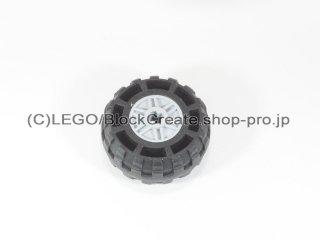 #55982/56891 ホイール 18x14 十字穴 (タイヤ付) 【新灰】 /Wheel Rim 18x14 with Axle Hole :[Light Bluish Gray]