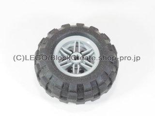 #56145/55976 ホイール 30.4x20 (タイヤ付) 【新灰】 /Wheel Rim 30x20 with No Pinholes :[Light Bluish Gray]