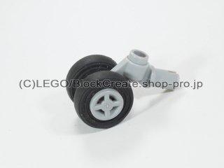 #61483 テクニック ピン ホイールホルダー (タイヤ付)【新灰】 /Technic Pin with Wheels Holder Plane :[Light Bluish Gray]