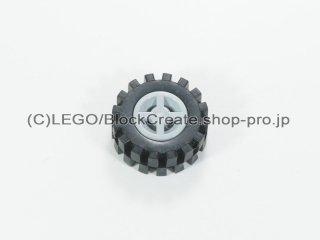 #73420 ホイール 8x6.4 (タイヤ付)  【新灰】 /Wheel Rim 8x6.4 Assembly :【Light Bluish Gray】