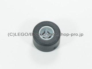 #74967b/30028 ホイール 8x9 ノッチ穴 バック強化 (タイヤ付)【新灰】 /Wheel Rim 8.1x9mm Notched Hole:[Light Bluish Gray]