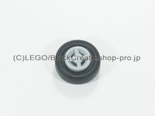 #75609 ホイール 8x6.4 (タイヤ付)  【新灰】 /Wheel Rim 8x6.4 Assembly :【Light Bluish Gray】