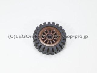 #30155/3483 ホイール センタースポーク小 (タイヤ付)  【旧茶】 /Wheel Centre Spoked Small :【Brown】