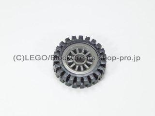 #30155/3483 ホイール センタースポーク小 (タイヤ付)  【旧濃灰】 /Wheel Centre Spoked Small :【Dark Gray】
