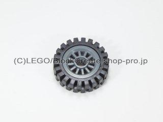 #30155/3483 ホイール センタースポーク小 (タイヤ付)  【新濃灰】 /Wheel Centre Spoked Small :【Dark Bluish Gray】