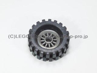 #30155/2346 ホイール センタースポーク小 (タイヤ付)  【旧濃灰】 /Wheel Centre Spoked Small :【Dark Gray】