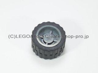 #30285/24341 ホイール ハブ 14.8x16.8 溝 (タイヤ付)  【新濃灰】 /Wheel Hub 14.8x16.8 with Centre:【Dark Bluish Gray】