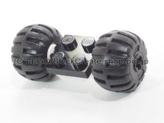 #122/4288 プレート 2x2 ホイール(タイヤ付 白)  【黒】 /Plate 2x2 with Wheels(Tyre Balloon) :【Black】