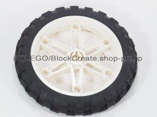 #2903/2902 ホイール 81.6x15 (タイヤ付) 【白】 /Wheel 81.6x15 Motorcycle :[White]