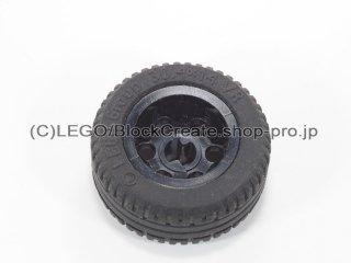 #2994/58090 ホイール 12mm x 20mm 6ペグ穴  【黒】 /Wheel 12x20 with Technic Axle Hole and :【Black】