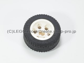 #2994/58090 ホイール 12mm x 20mm 6ペグ穴  【白】 /Wheel 12x20 with Technic Axle Hole and :【White】