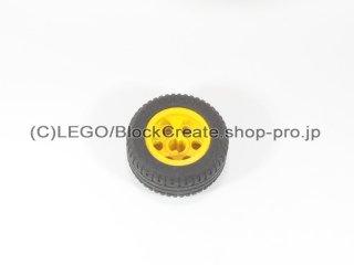 #2994/58090 ホイール 12mm x 20mm 6ペグ穴  【黄色】 /Wheel 12x20 with Technic Axle Hole and :【Yellow】