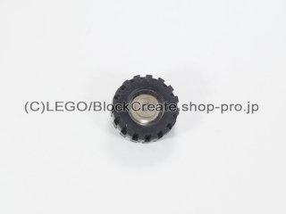 #3464/3641 プーリーホイール (タイヤ付)【透明】 /Wheel Centre with Stub Axles :[Tr,Clear]