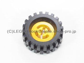#3482/2346 ホイール ハブ 8x17.5 軸穴 (タイヤ付)  【黄色】 /Wheel Hub 8x17.5 with Axlehole :【Yellow】