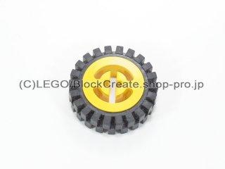 #3482/3483 ホイール ハブ 8x17.5 軸穴 (タイヤ付)  【黄色】 /Wheel Hub 8x17.5 with Axlehole :【Yellow】