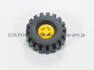 #4624/4084 ホイール 8x6 (タイヤ付) 【黄色】 /Wheel Rim 8x6.4 (Tyre 8/ 75x8 Offset Tread) :[Yellow]