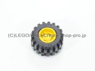 #6014a/6015 ホイール 11x12 ラウンド (タイヤ付)  【黄色】 /Wheel Rim Wide 11x12 with Round Hole :【Yellow】