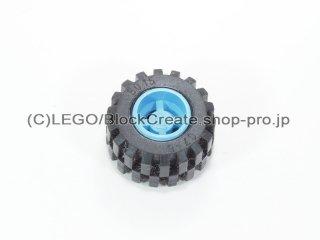#6014b/6015 ホイール 11x12 ノッチ (タイヤ付)  【ミディアムブルー】 /Wheel Rim Wide 11x12 with Notched Hole :【Md.Blue】