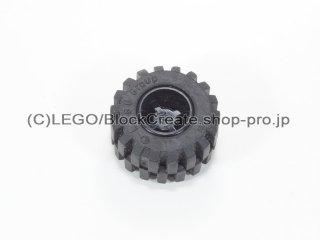 #6014b/6015 ホイール 11x12 ノッチ (タイヤ付)  【黒】 /Wheel Rim Wide 11x12 with Notched Hole :【Black】
