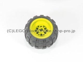 #6580/6579 ホイール 43.2x28 バルーン (タイヤ付)  【黄色】 /Wheel 43.2x28 Balloon Small :【Yellow】