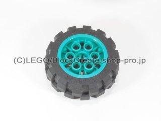 #6582/6581 ホイール 20x30 (タイヤ付)  【ダークターコイズ】 /Wheel 20x30 Balloon Medium :【Dark Turquoise】
