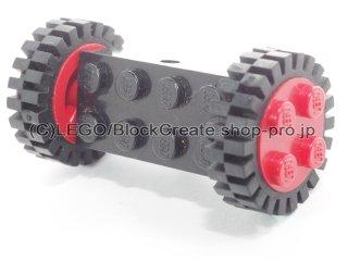#7049 ホイール ホルダー 2x4 (タイヤ付) 【黒】 /Brick 2x4 with Wheels Holder (Undetermined Bottom) :【Black】