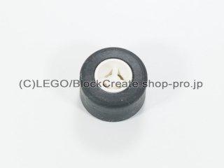 #30027a/30028 ホイール 8x9 ラウンド (タイヤ付)  【白】 /Wheel Rim 8mmx9mm Round Hole :【White】