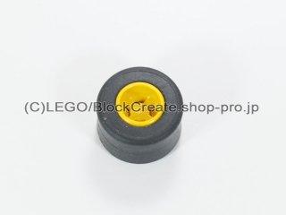 #30027a/30028 ホイール 8x9 ラウンド (タイヤ付)  【黄色】 /Wheel Rim 8mmx9mm Round Hole :【Yellow】