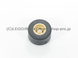 #30027b/30028 ホイール 8x9 ノッチ (タイヤ付)  【タン】 /Wheel Rim 8mmx9mm Notched Hole :【Tan】